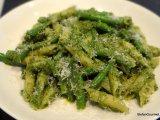 Penne rigate ai Fagiolini e Pesto diSantoreggia